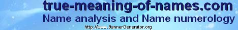 Name analysis and Name numerology